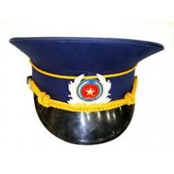Nón bảo vệ Kê pi màu xanh