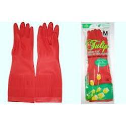 Găng tay màu bông sen