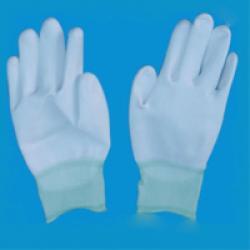 Găng tay PU bàn tay màu trắng