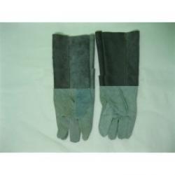 Găng tay da dài cứng