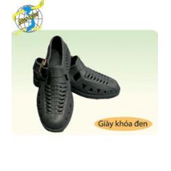 Giày khóa đen
