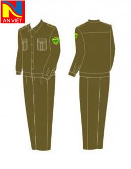 Quần áo thu đông công an xã