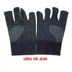 Găng tay vải jean