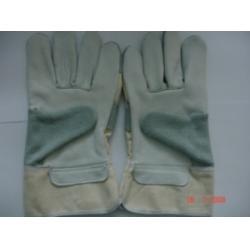 Găng tay da hàn kết hợp vải